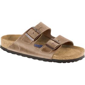Birkenstock Arizona Soft Footbed Sandals Oiled Nubuck Leather tabacco brown